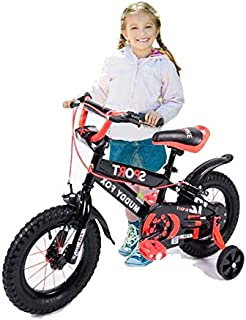 Megastar - s Mddy Fox Sports Bicycle for Kids, Multi-Colour, 12 inches, 12-Mdob