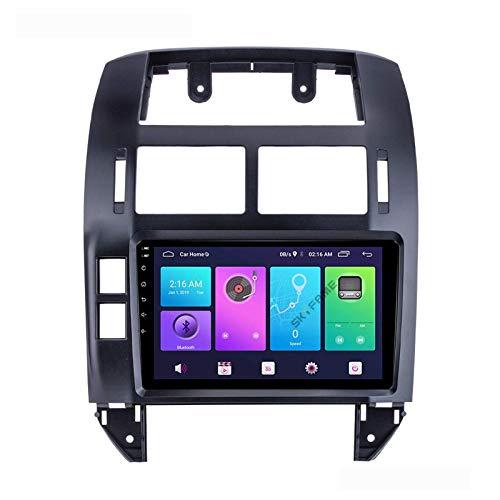 FDGBCF Android 10.0 Car Stereo 2 DIN Head Unit para VW/Volkswagen Polo 2004-2011 Navegación GPS Pantalla táctil de 9 Pulgadas Reproductor Multimedia MP5 Receptor de Video y Radio con 4G WiFi DSP