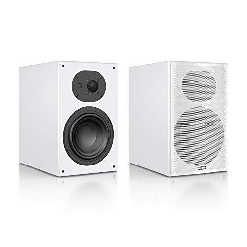 Nubert nuLine 34 Regallautsprecherpaar | Lautsprecher für Musikgenuss | Heimkino & HiFi Qualität auf hohem Niveau | Passive Regalboxen mit 2 Wegen Made in Germany | Kompaktlautsprecher Weiß | 2 Stück