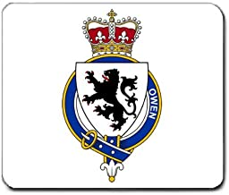 Owen Wales Family Crest Coat of Arms Mouse Pad
