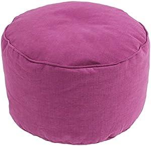 Thedecofactory Pouf Rond, Coton, Violet, 50x50x30 cm