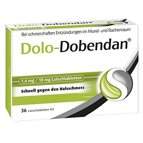 Dolo-Dobendan Lutschtabletten bei Halsschmerzen, 36 St