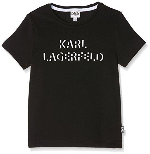 KARL LAGERFELD Jungen Tee-Shirt Sporttop, Schwarz (Black), 8 Jahre