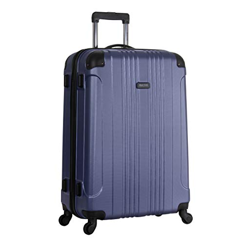 Kenneth Cole Reaction Out of Bounds 28-inch Check-Size Lightweight Durable Hardshell 4-Wheel Spinner Upright Luggage, Smokey Purple