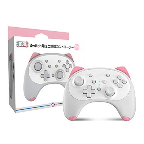 Switch Pro-Controller für Nintendo Switch/Switch Lite, Cartoon Kitten Wireless Controller-Gamepad, unterstützt einstellbare Doppelvibrationen
