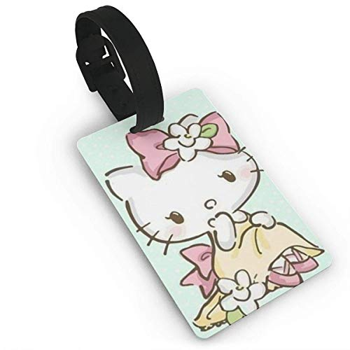 Hello Kitty Face Love Luggage Tags Suitcase Carry-Onid Travel Id Baggage Tag