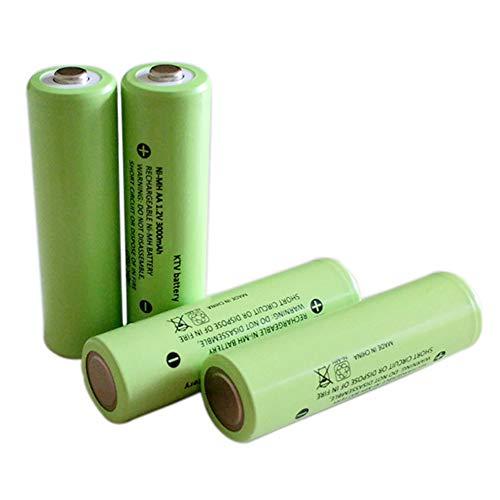 JIXIN Batería Recargable AA: Batería Doble A Multifunción De Larga Duración para Uso Doméstico Y Comercial(3000 mAh),6pcs