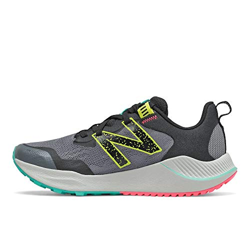 New Balance Women's DynaSoft Nitrel V4 Trail Running Shoe, Lead/Tidepool, 8.5
