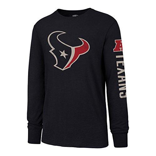 OTS NFL Houston Texans Men's Slub Long Sleeve Team Name Tee, Distressed Sinclair, X-Large