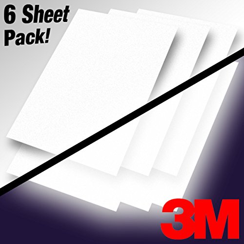 3M Silver White Reflective Vinyl DIY 12 Inch x 16 Inch Sheet Pack for Vehicle Wrapping (6 Sheet Pack)