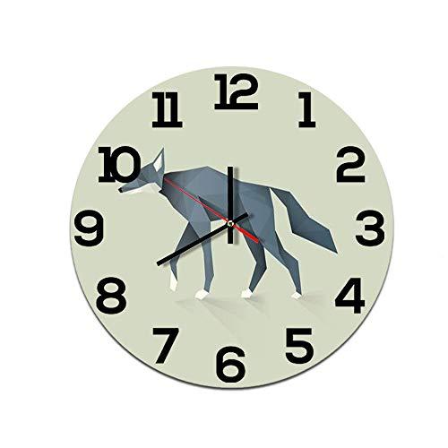LUOYLYM Origami Animal Creative Home Reloj De Pared Acrílico Decoración De Pared Reloj Mudo Movimiento Espejo Reloj F514-153 28cm
