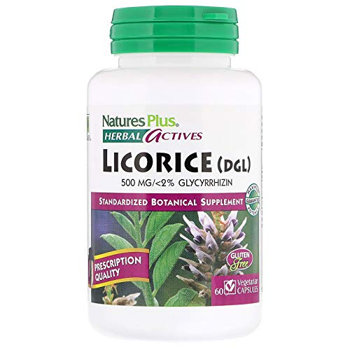 Natures Plus Licorice (DGL) 500mg (<2% Glycyrrhizin) (Süßholz) 60 veg. Kapseln (vegan)