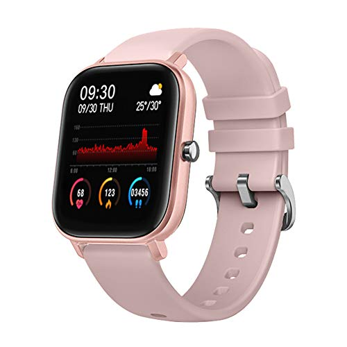 Update P8 - Pulsera de reloj inteligente (1,4 pulgadas, IP67, ritmo cardíaco, color rosa)