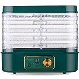 WGHH Máquina de deshidratador de Alimentos eléctricos de 5 bandejas con Temporizador Digital y Control de Temperatura for la máquina brusca de Carne de Carne de Carne de Verduras