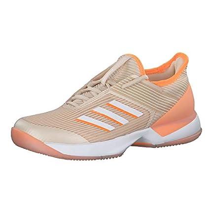 Adidas Adizero Ubersonic 3 w, Zapatillas de Tenis Mujer, Multicolor (Lino/Ftwbla/Narfla 000), 41 1/3 EU