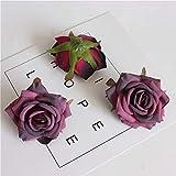 MJTCJY 1 pcs 7.0 cm Soie Rose Fleur Artificielle Ameublement De Mariage Bricolage...