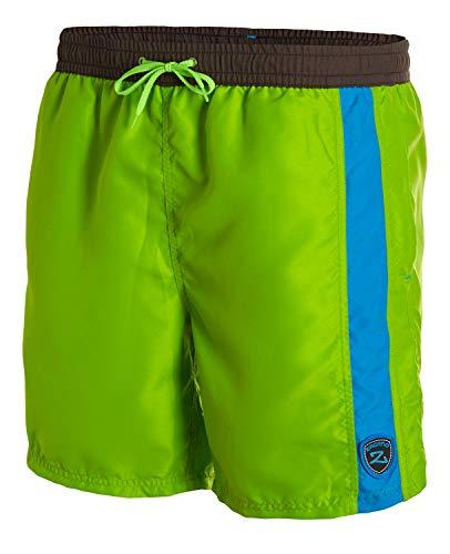 Zagano Badehose, Herren Badeshorts, Boardshorts für Männer mit Kordelzug, Badehose, Sporthose, Shorts S-5XL Gras grün pini Gr. 6XL