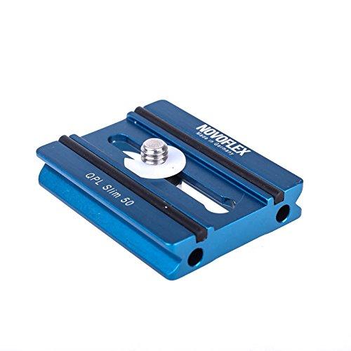 Novoflex QPL Slim 50 Flache Klemmplatte (Wechselplatte, Kameraplatte) - z.B. für Systemkamera an Q=Mount Schnellkupplung (Arca-kompatibel)