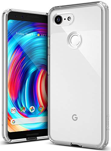 Caseology Waterfall for Google Pixel 3 Case (2018) - Minimal & Transparent - Clear