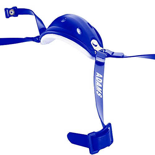 ADAMS USA High Hook Up Nylon Matte 4 Point Football Varsity Chinstrap, Royal Blue
