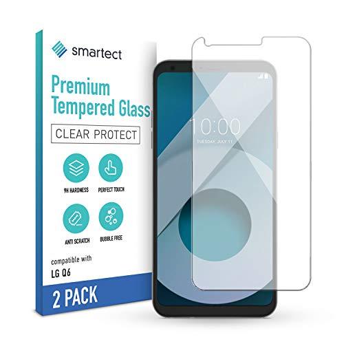smartect Pellicola Protettiva per LG Q6 [2 Pezzi] - 9H Vetro Temperato Proteggi Schermo - Design Ultra Sottile - Applicazione Anti-Bolle - Anti-Impronte