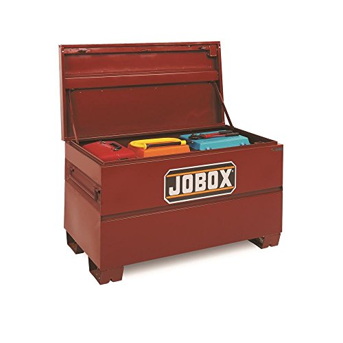 Jobox 48in. Heavy-Duty Steel Chest - Site-Vault Security System, 15.4 Cu. Ft. 48in.W x 24in.D x 27 3/4in.H, Model Number 1-654990