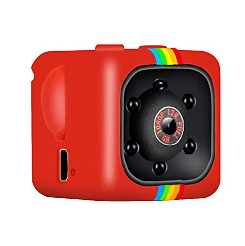 CXSD Cámara espía Wifi oculta, la cámara de vigilancia de seguridad más pequeña 1080P Full HD inalámbrica mini cámara, cámara portátil, cámara web de monitoreo remoto (color rojo, tamaño: 8 g)