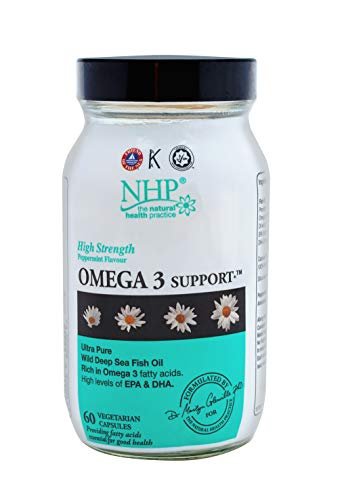 Natural Health Practice Omega 3 Fish Oil Support Supplement (60 Capsules) High Levels of EPA & DHA Softgel Capsules