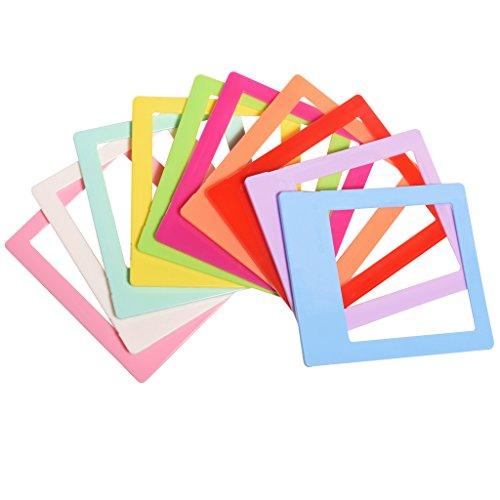 Polaroid 10 Coloridos Mini Marcos de Fotos para Papel fotográfico 3x4 (Pop)