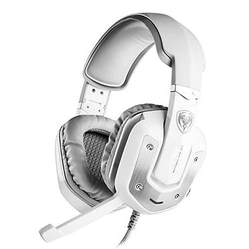 Casque de jeu USB - Casque audio Dolby 7.1 Surround - Casque stéréo de jeu pour PS4, PC, manette Xbox One, suppression du bruit sur les oreilles avec micro,