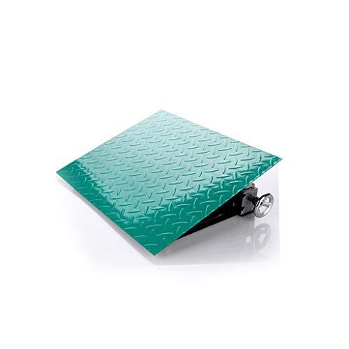 ZKKWLL Rampas de Carga Rampa de Coche for camionetas, automóviles, sillas de Ruedas, Accesorios Especiales con discapacidad (Verde) bordillo de Ruedas rampa (Color : 1pcs)