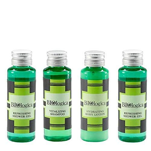 Eco Aware Hotel Toilettenartikel Shampoo, Haarspülung, Duschgel, Körperlotion 30 ml Total 50 Stück bei Biologica