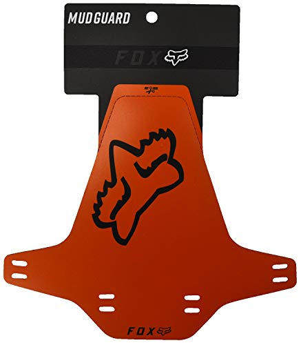 Fox Mud Guard Fahrrad MTB DH FR Ebike Gabel Spritzschutz Fender Schutzblech (Orange Logo/Logo Weiss)