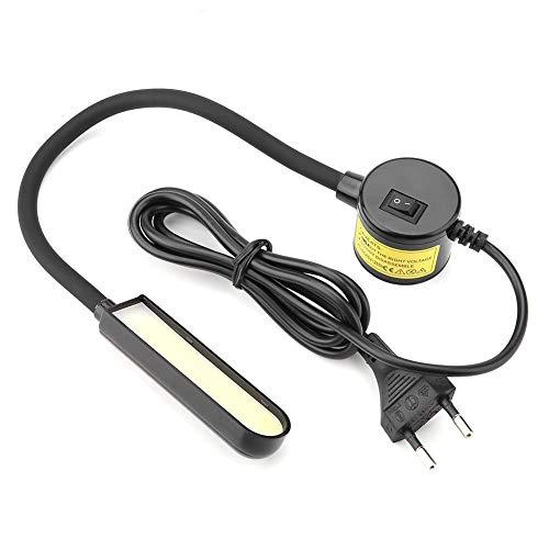 Luz de trabajo de costura - Luz de máquina de coser LED COB de 6W, lámpara de máquina de coser de base magnética ajustable, enchufe de la UE 110-265V