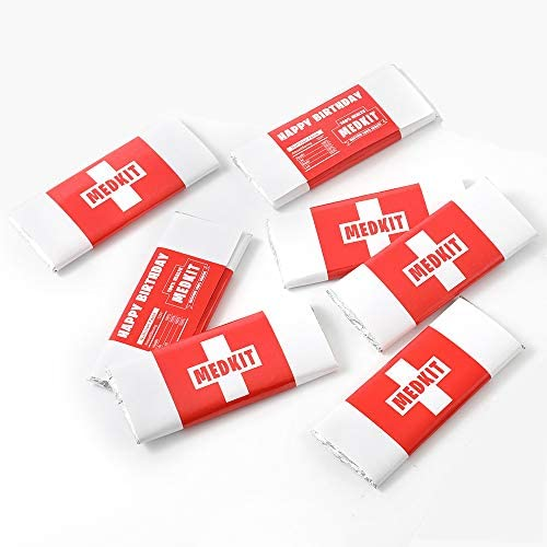 SUYEPER Game Party Supplies Chocolate Bar Medkit Labels for Birthday Party Game Birthday Party product image