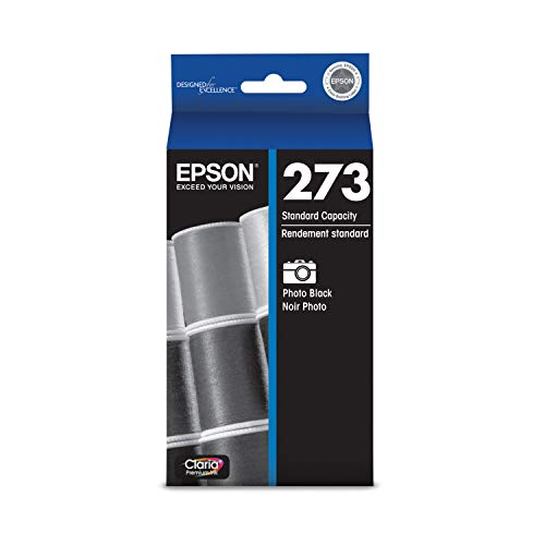 EPSON T273 Claria Ink Standard Capacity Photo Black Cartridge (T273120-S) for Select Epson Expression Premium Printers