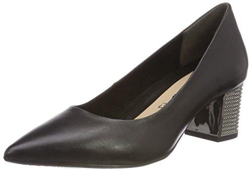 Tamaris Damen 22411-31 Pumps, Schwarz (Black Leather 3), 40 EU