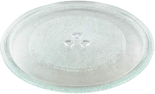 KAV Universal Microwave Glass Plate Turntable Plate Replacement Glass with 3 Fixtures (Dia: 255 MM)