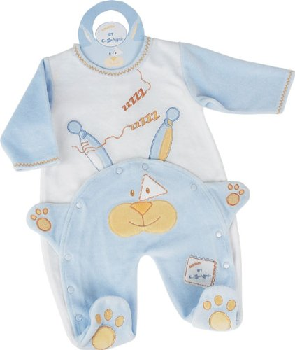 Doudou et Compagnie Pyjama Hase blau 03Monate