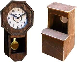 コバアニ模型工房 1/12 想い出横町シリーズ 時計と踏台 組立キット OY-007