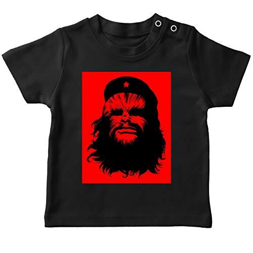T-Shirt bébé Noir Star Wars parodique Chewbacca : Chewie Guevara (Parodie Star Wars)