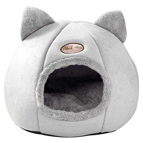 Letto a grotta per gatti, morbido peluche invernale caldo pieghevole tappetino per dormire per gatti cani, lavabile carino per interni all'aperto cuccia per animali domestici Tenda per dormire XL