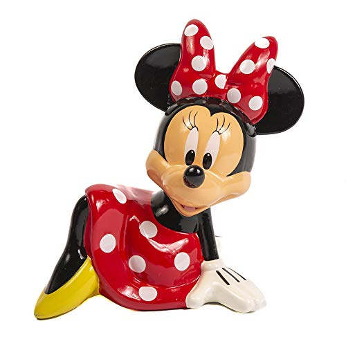 Minnie Mouse Piggy Bank for Girls – Kids Ceramic Piggy Bank with Rubber Stopper