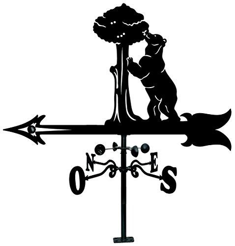 Arthifor Veleta de Tejado con Silueta de Oso Y Madroño, Negro Mate