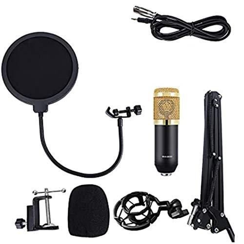 BM-800 Micro Set Estudio Profesional,Tarjeta De Sonido Interna,Dolby Digital Live, DTS Alimentación 48 V Y 2 Entradas con V8 Mesa De Mezclas para PC, Karaoke, Streaming, Youtube