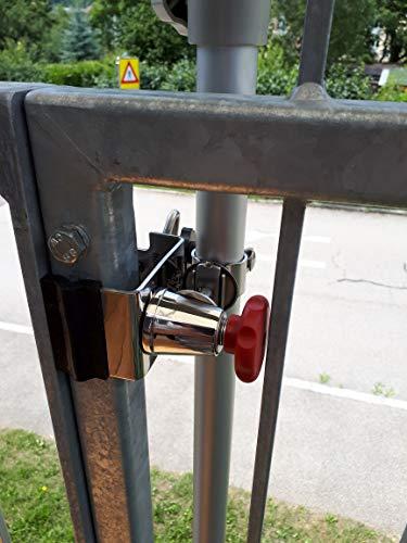 Holly STABIELO Porte-parapluie en acier inoxydable rotatif à 360° pour bâtons jusqu'à Ø 38 mm Fixation sur rampes rondes et carrées jusqu'à 55 mm de diamètre