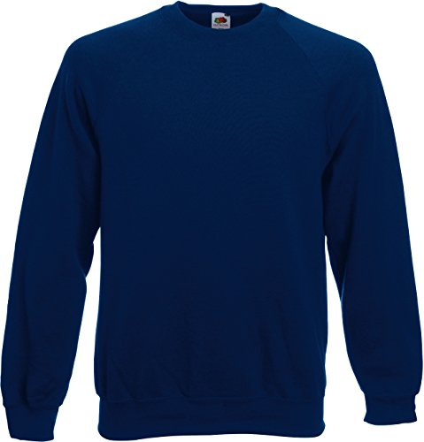 Fruit of the Loom Herren, Sweatshirt, Raglan Sweatshirt SS024M, Blau (Navy), M
