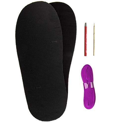 Langlauf Schuhbedarf Vibram 8316 Mandorlo Morflex Soft&Light Barfußsandalen selbermachen Huarache DIY Set (lila)