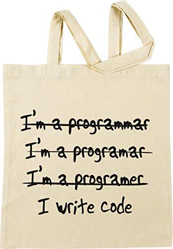 Vendax I Write No, Im A Programmer Beige Einkaufstasche