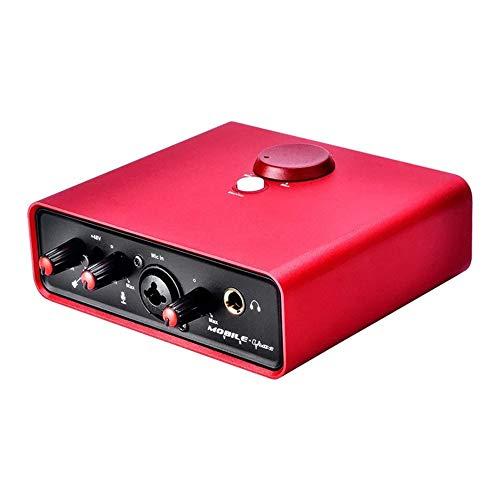 RJJ Webcast Chant D'enregistrement Mini-Professionnel Carte Son Externe Ordinateur Portable Rouge Universel Stablement
